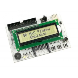 SD Floppy Emulator LCD-display Blanco REV C