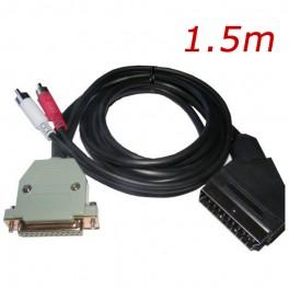 Cable Euroconector (Amiga RGB a TV) + sonido (con conector original)