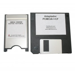 Amiga PCMCIA Compact-Flash reader + Software