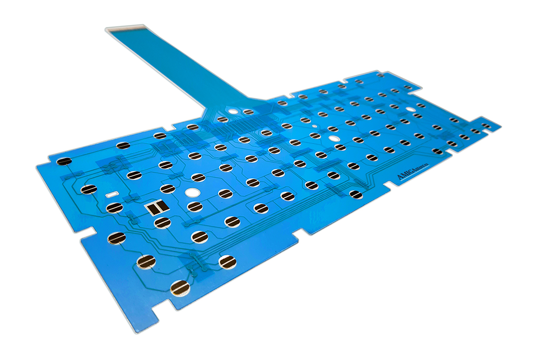 Amiga 600 keyboard membrane - Blue