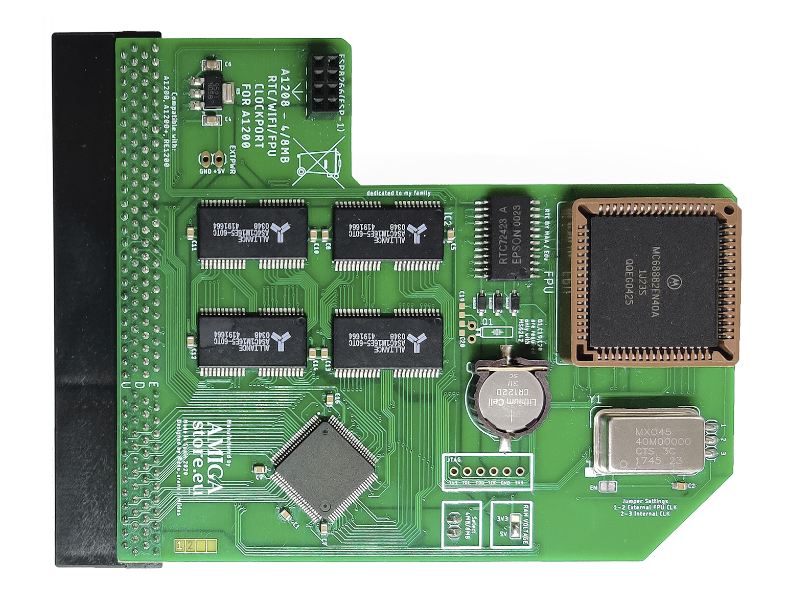 A1208 V3 - Fast Memory expansion for Amiga 1200