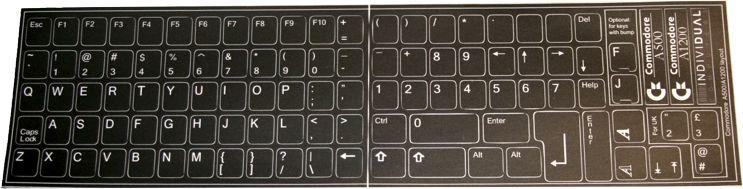 Pegatinas de teclado, versión en inglés, estilo A1200/A4000/A3000/A2000
