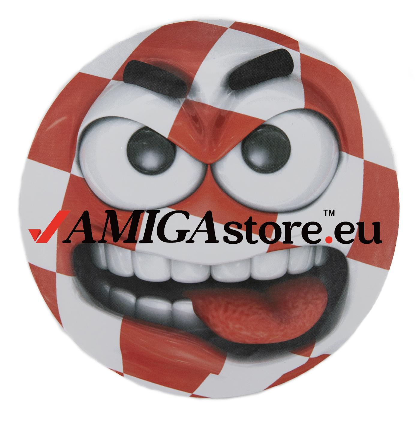 Amiga Angry Boingball sticker