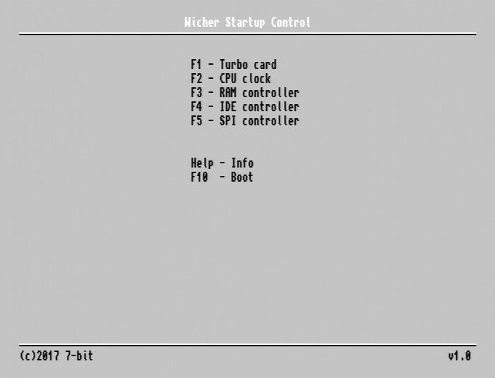 Wicher Startup Control